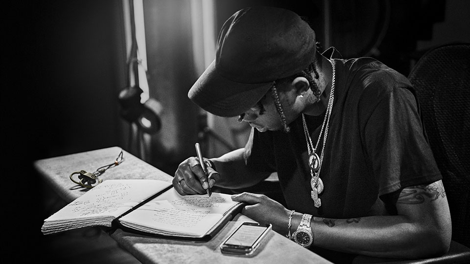 travis scott writing rap lyrics
